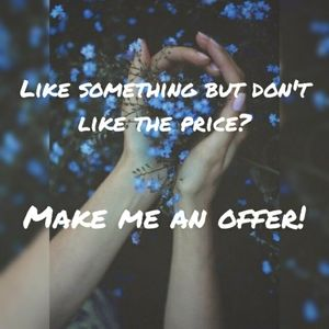 I don't bite! 💙 Make the offer!